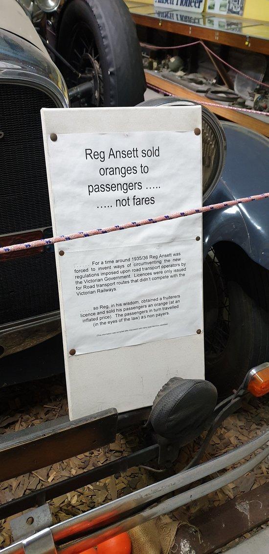 Sir Reginald Ansett Transport Museum Hamilton Vic motto