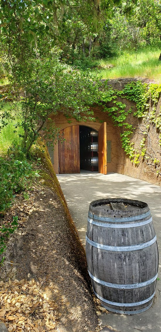 Entrance to the huge maze of caves where their's and many other wineries store their wine.