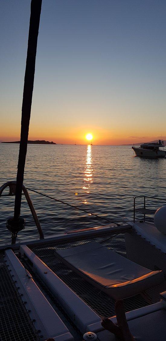 Navegando las islas Cycladas