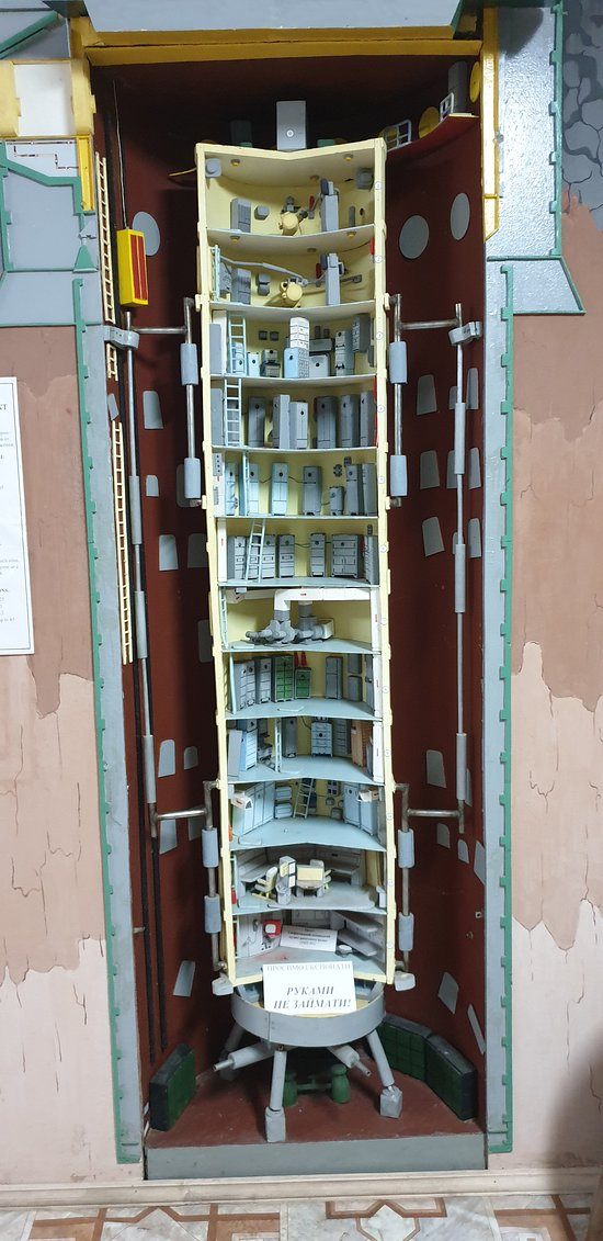 A model of the control centre within a shock and blast proof tube