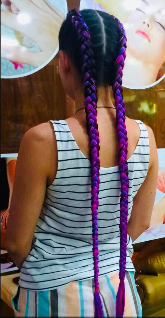 Professional hair braiding in patong at golden touch beauty salon 2
