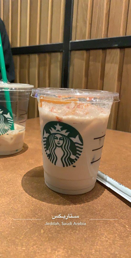 افضل مشروب بارد هو ايس كراميل ماكياتو والفرابتشينو ماتشا اما الفانيلا والوايت موكا ماعجبوني Picture Of Starbucks Mecca Tripadvisor