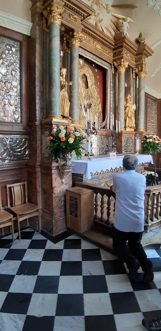 The shrine to the Madonna
