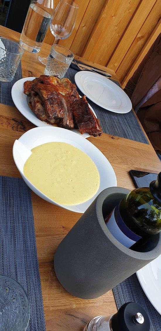Pork ribs and the massed potatoes! mmmmm...Thank you!