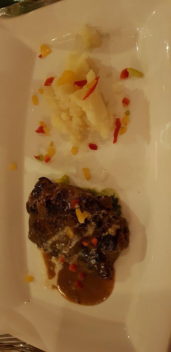 The scrummy steak!