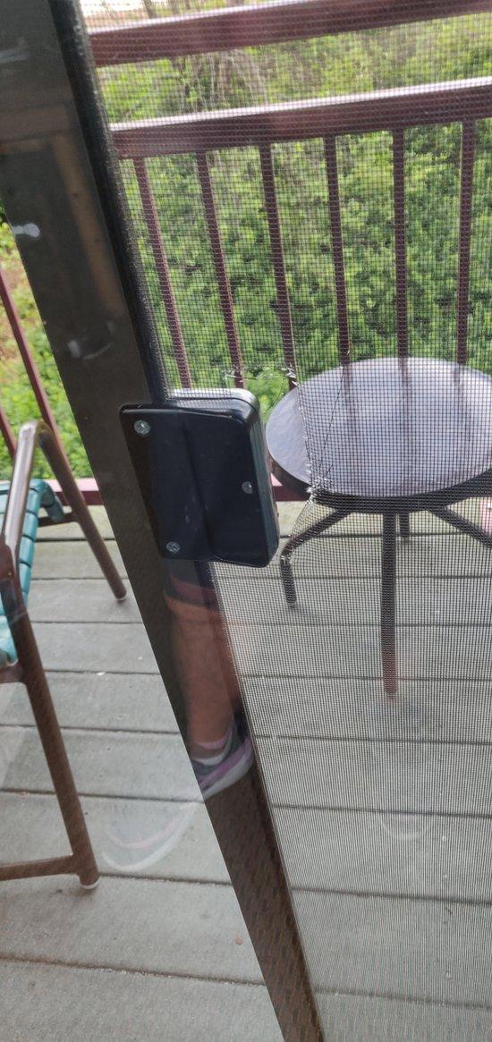Broken screen door