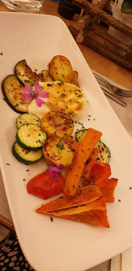 Tomino con verdure grigliate (la sera a cena)