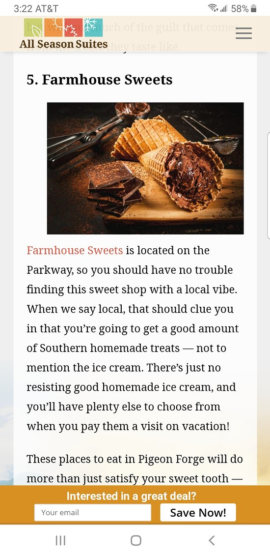 Exciting! We are mentioned in an article listing the top 10 sweet shops to visit. Thank you!