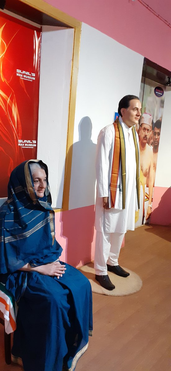 Indira Gandhi and Rajiv Gandhi Wax statue. I'm not sharing too many photos, since already most of them are here.