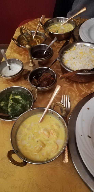 Mix di seconde portate (verdure, gamberi, riso)