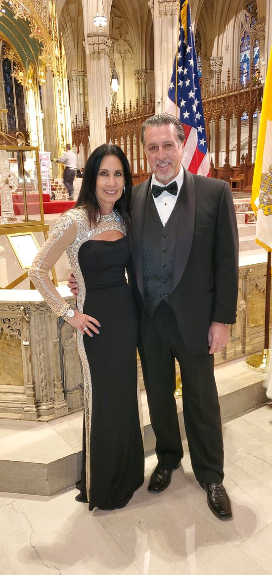 ROSARIO CASSATA AND CAROLYN CASSATA AT ST. PATRICK'S CATHEDRAL IN NEW YORK CITY.