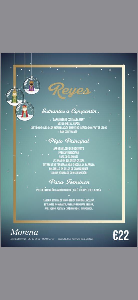 Menú del día de los Reyes reserva tu mensa