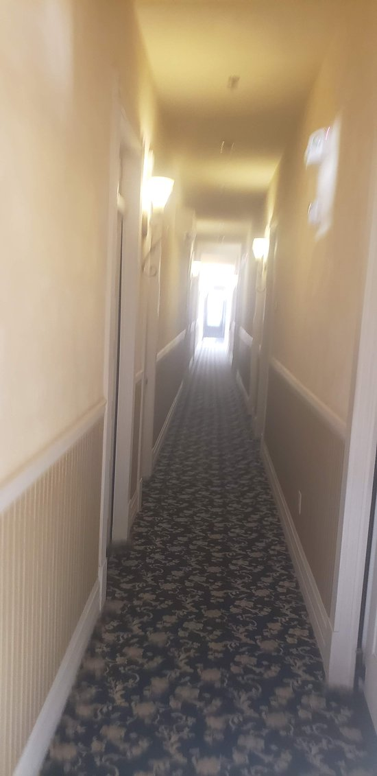 Hall way to the room.  Get that old western motel feel