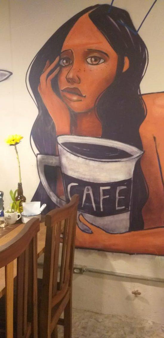 Arte dentro da cafeteria