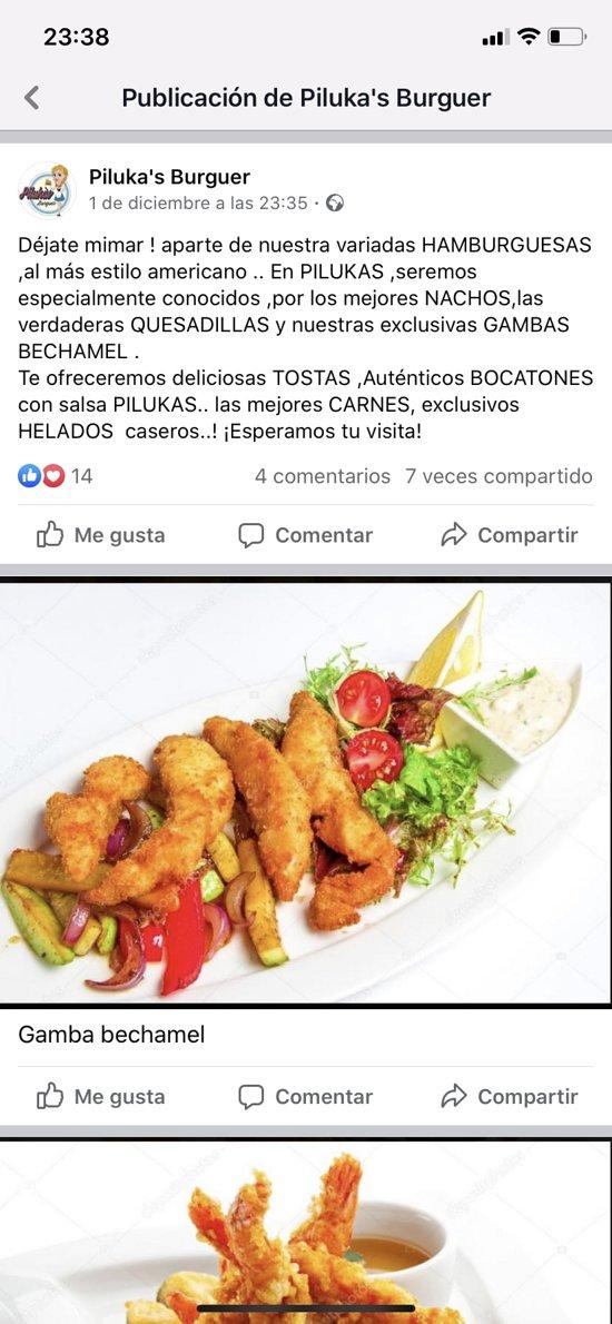 Gambon bechamel.. no podrás resistirte a nuestra exquisita salsa con langostino de Huelva