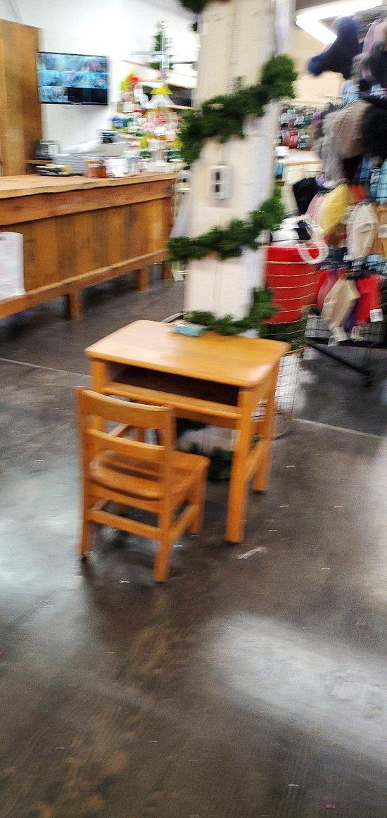 Kids activity station.