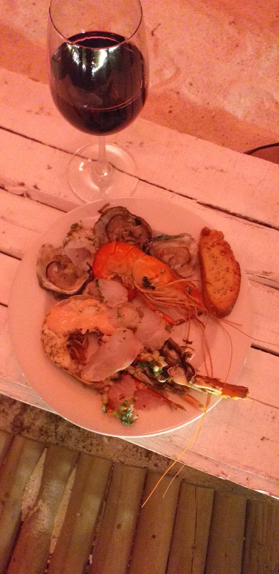 section of the seafood chosen