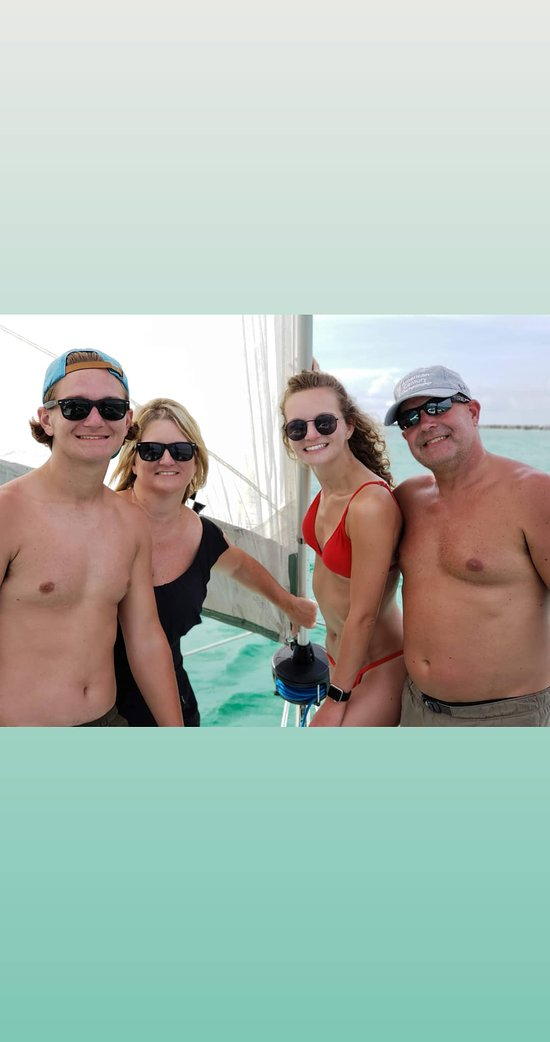 Great pic on a private sailing charter. Family is everything!