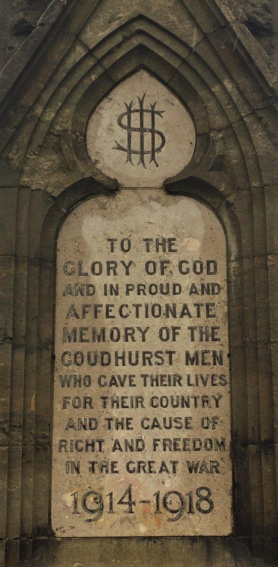 2.  Goudhurst War Memorial, Goudhurst, Kent
