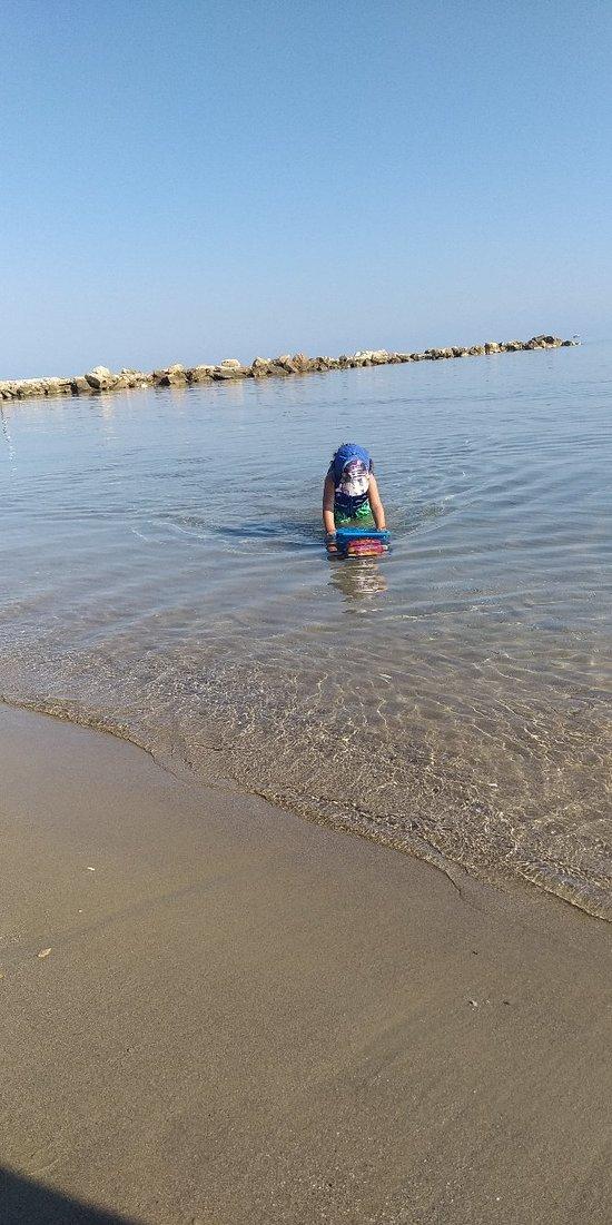 Η καλύτερη παραλία για παιδιά.