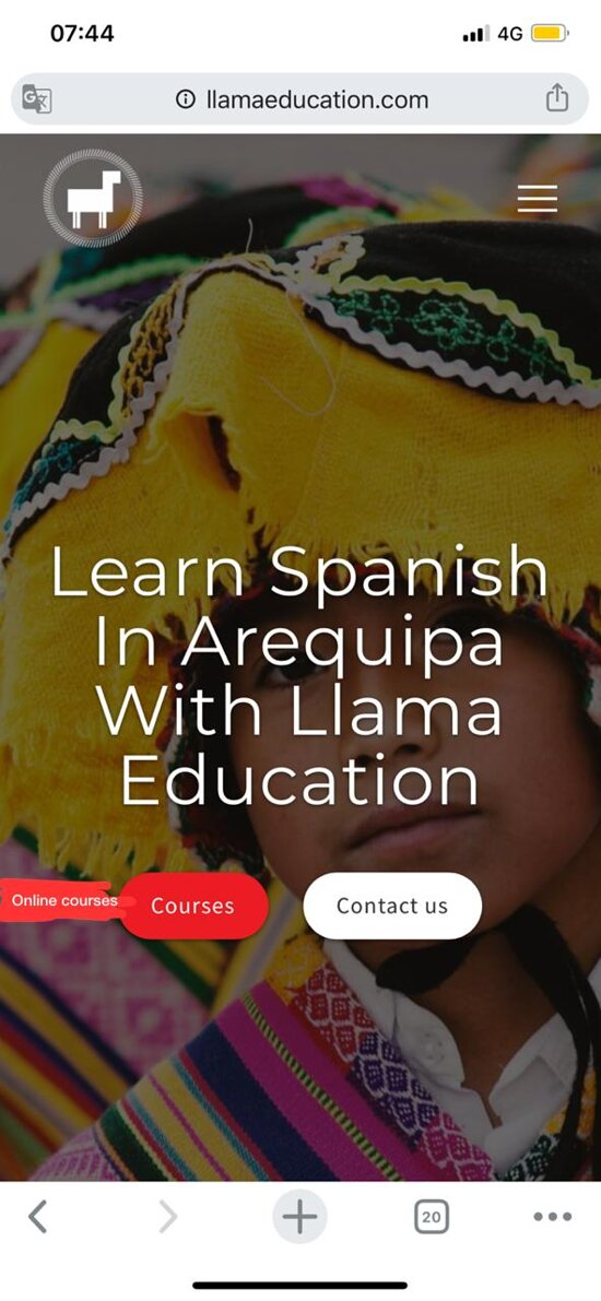 LEARN SPANISH in FACE TO FACE CLASS ONE-TO-ONE   Your next trip starts here with Llama Education. During your time with us, immerse in culture and participate in leisure programs.  OUR SCHOOL IS REOPENED EFFECTIVE OCTOBER 2020, WITH THE STRICTEST COVID-19 SAFETY PROTOLS IN PLACE