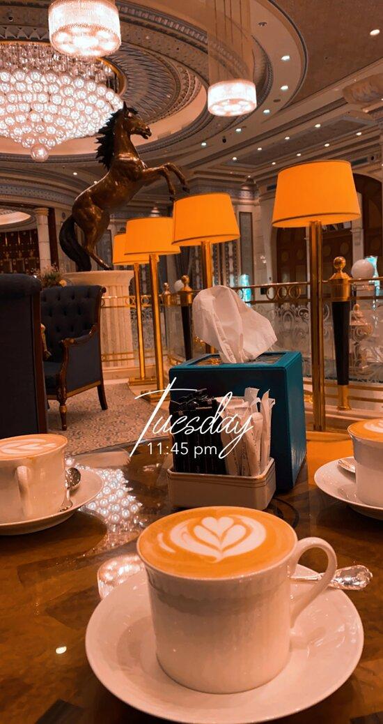 Nice coffee with hospitality service