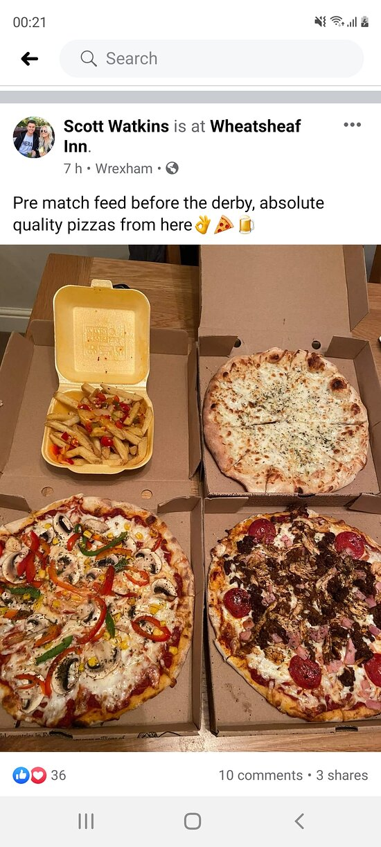 Great feedback on fb for our pizzas