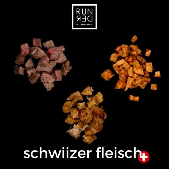Bei RUNDER gibts 100% Schwiizer Fleisch.