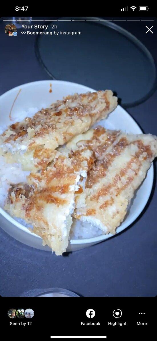 Unagi with rice