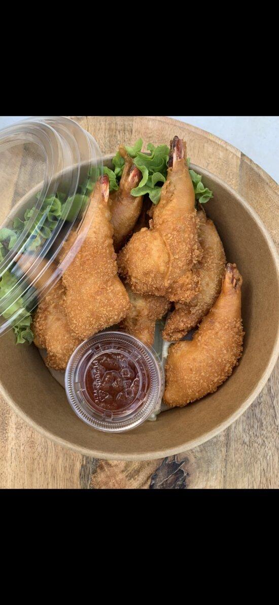 Beignets de crevettes tempura façon Vivi Thaï, by Bouddha palace ;) .  Attention bientôt disponible au Bouddha Palace !