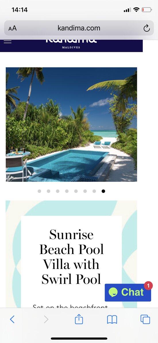 How they advertise Sunrise Pool Beach villa vs Reality
