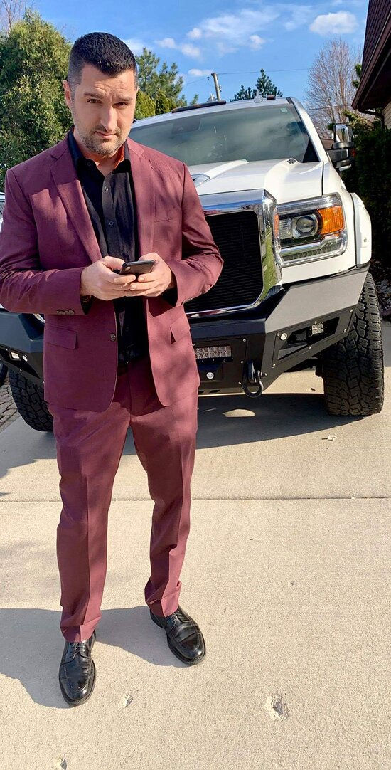 CUSTOM  DOES MATTER WHEN YOUR IN FASHION OUTFIT , HAVE A LOOK OUR WINE MAROON PLAID SUIT FROM SUIT FITTER AT PHUKET THAIALND
