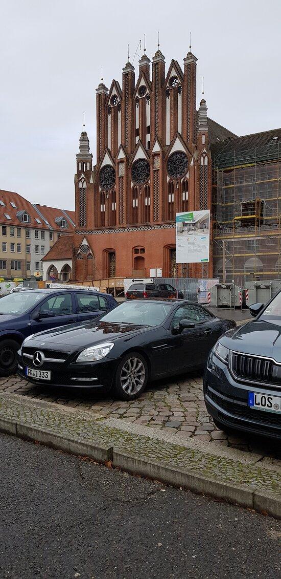 Deutschland, Frankfurt (Oder). Rathaus. Winter-2020/2021