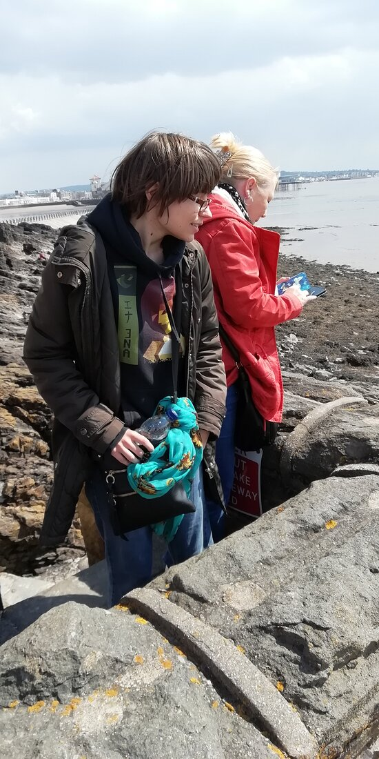 Daughter and granddaughter at scattering