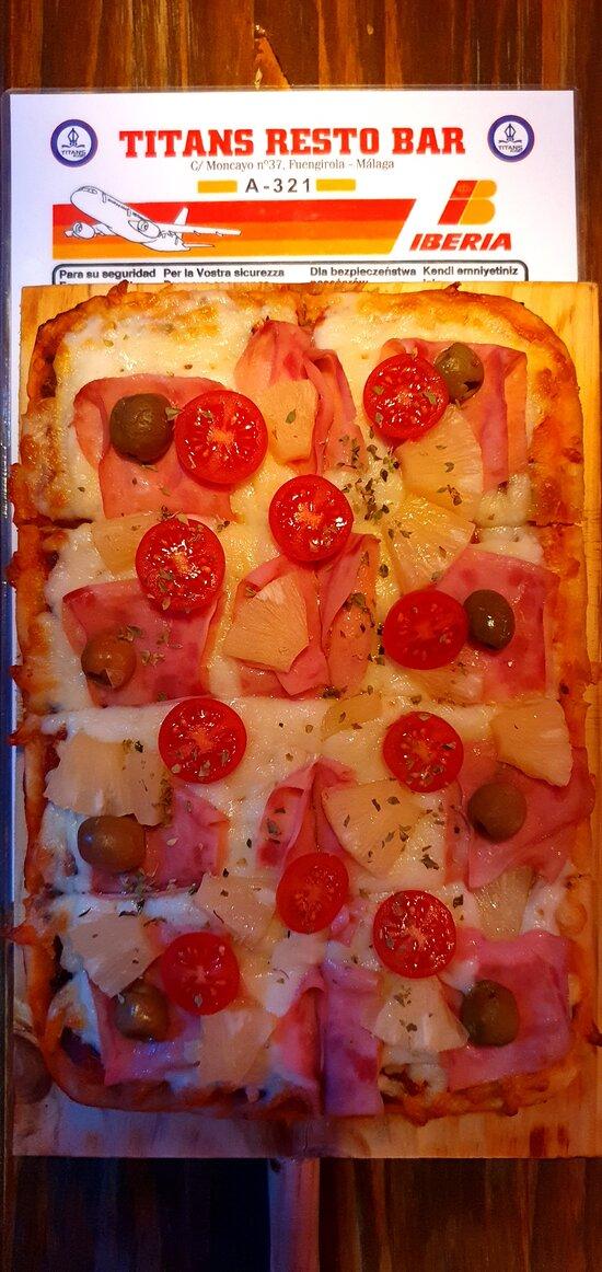 Una de nuestras pizzas caseras!