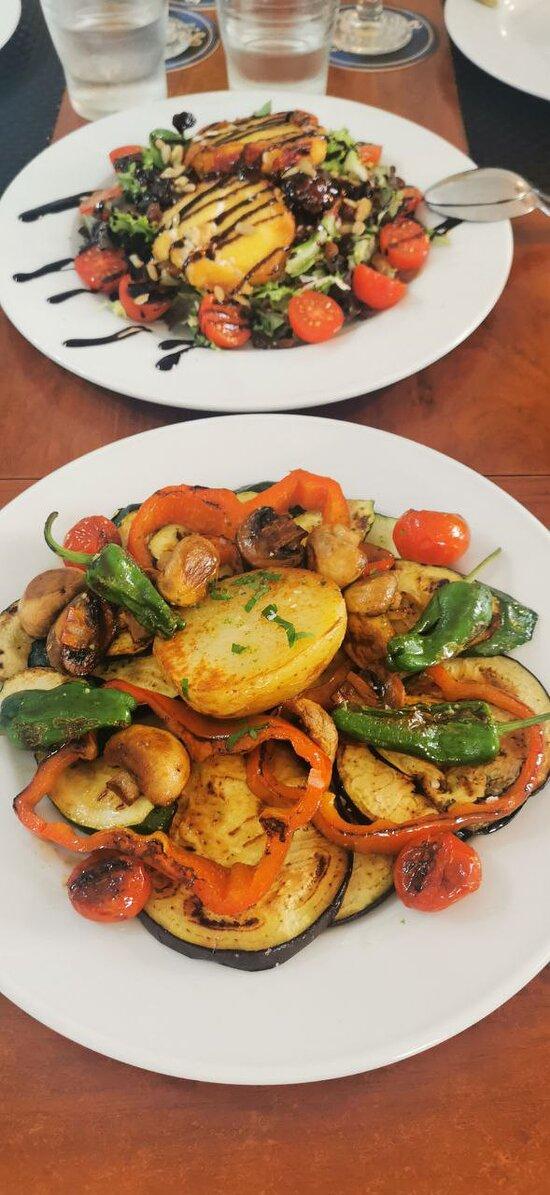 Ensalada Rulo y parrilla verduras