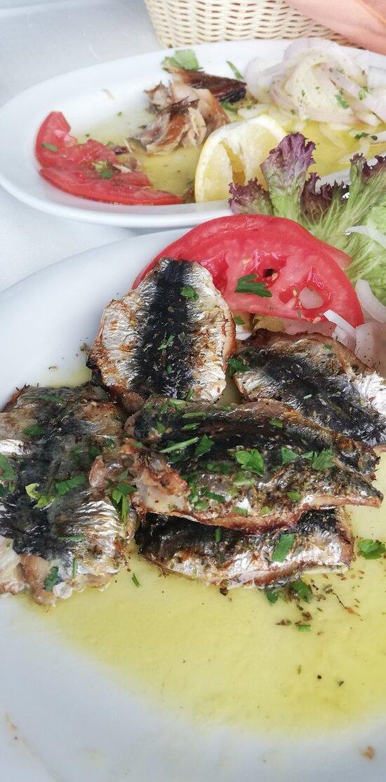 Ριζότο θαλασσινών κ σαρδέλα σχαρας