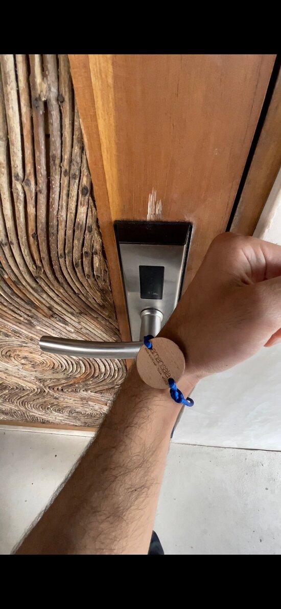 Room Key on Wrist