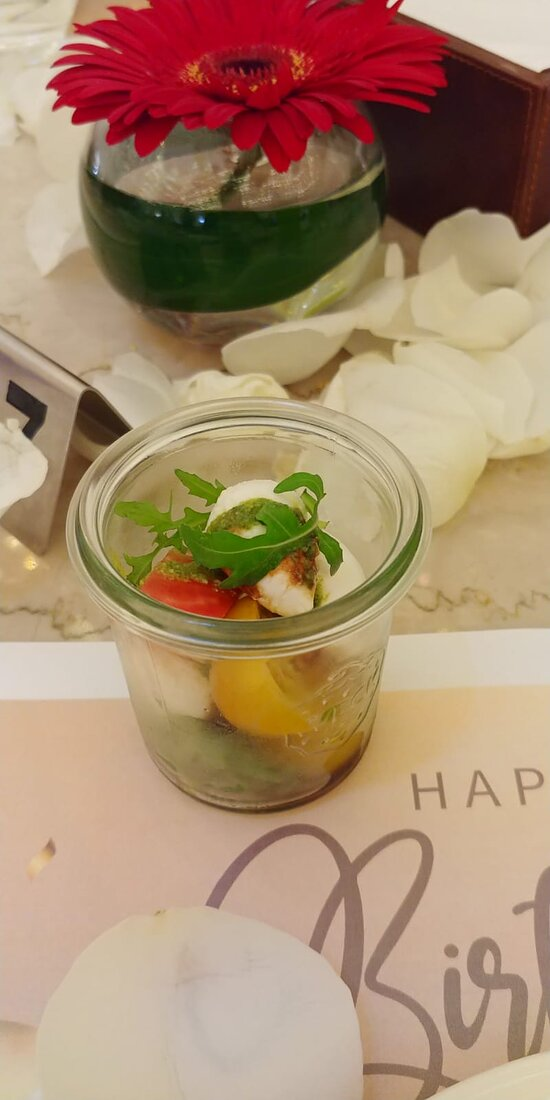 Appetizing and wonderfully presented salad