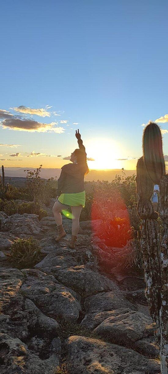 Aguardando o Pôr do Sol no Morro do Pai Inácio - Chapada Diamantina BA