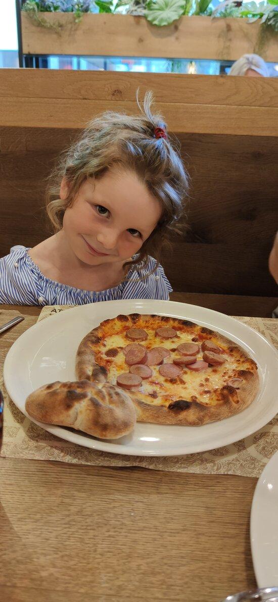 La pizza con il fiocco