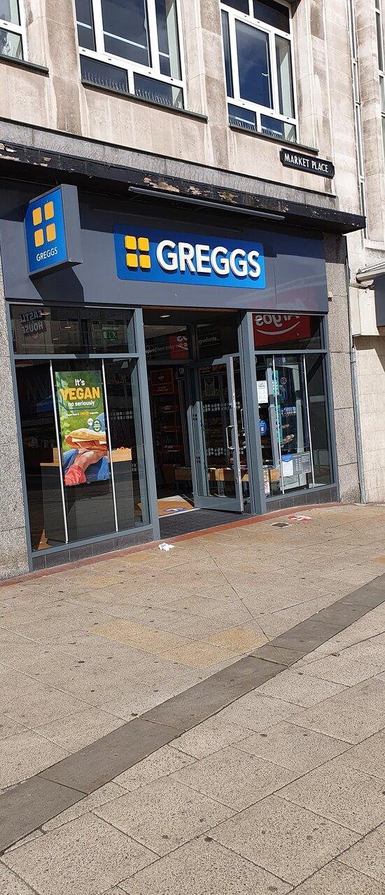 Greggs Market Place Sheffield.