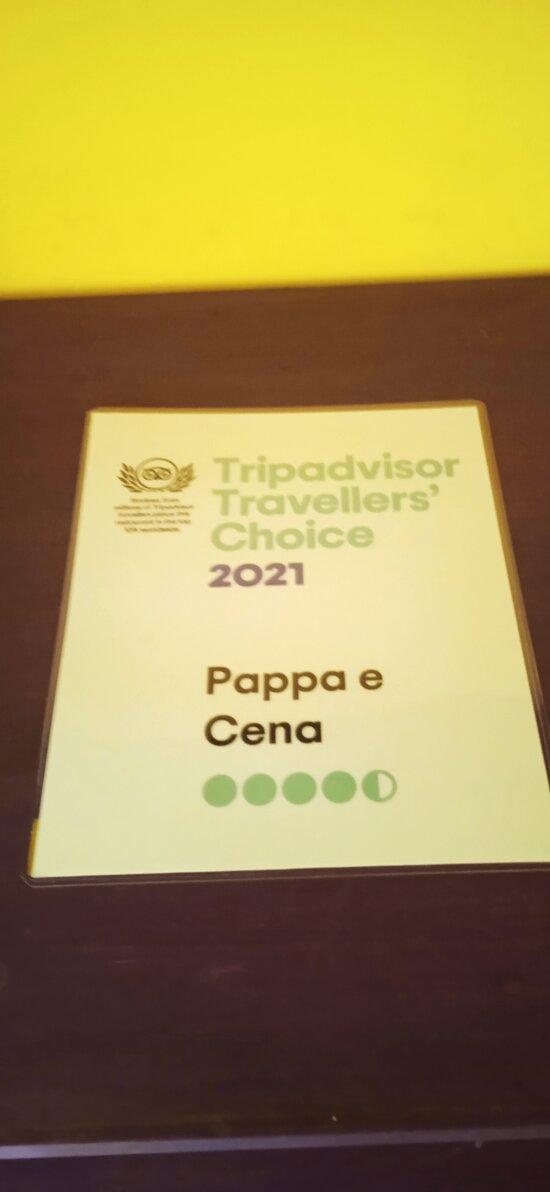 Grazie ai nostri ospiti ed a TripAdvisor per questo riconoscimento!! 10/100 dei ristoranti del mondo con le migliori recensioni