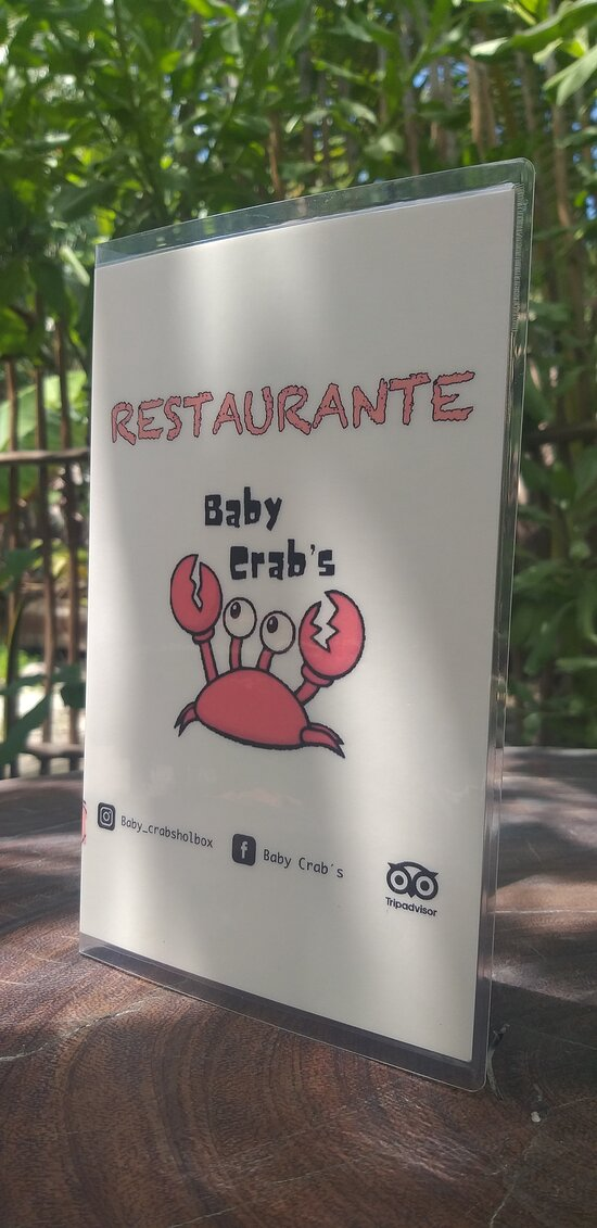 Menú Baby Crab's