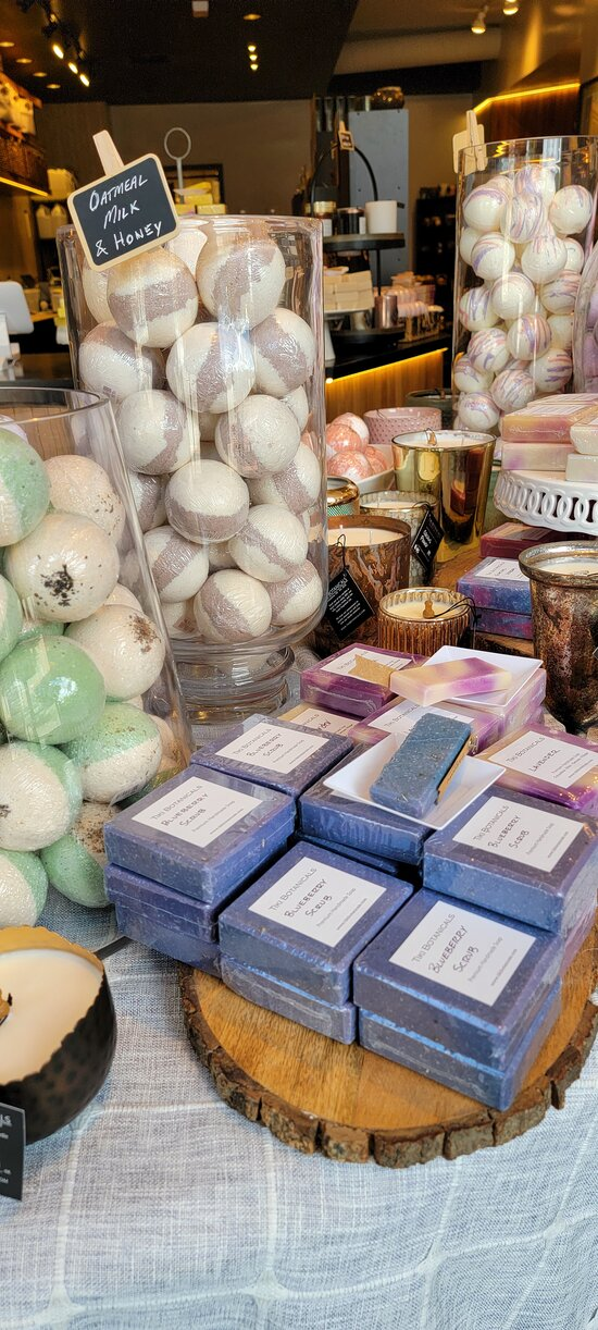 Some of our most popular bath bombs and bar soaps.