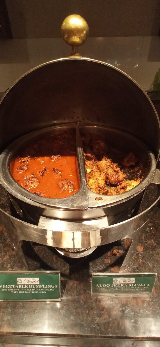 Vegetable Dumplings & Aloo Jeera Masala
