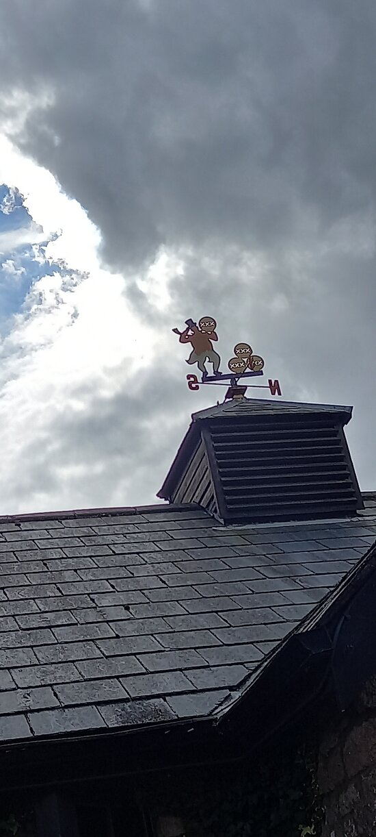 Cute weather vane on Hawkes House roof