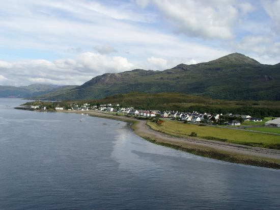 Castle Maol: View of Kyleakin from the Bridge