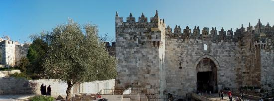 Jerusalem Hotel: Damascus Gate, five minutes from hotel, on a holiday.