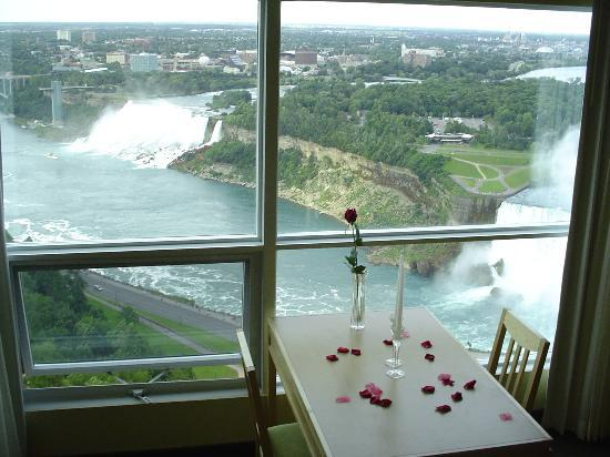 Embassy Suites by Hilton Niagara Falls Fallsview Hotel : View from room - I added roses